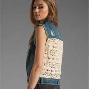 Free People • Macrame Cargo Vest in Moody Blue